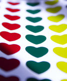 Colorful hearts. Multiple hearts of different colors Stock Illustration