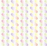 Background of hearts. Colorful hearts in pastel colors on a white background Royalty Free Stock Image