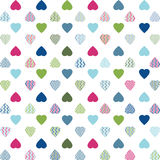 Colorful Hearts Pattern stock photography