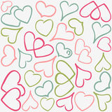 Colorful hearts pattern Stock Images