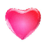 Colorful hearts. Red valentine's heart isolated on white. 3d render with HDR Royalty Free Stock Images