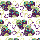 Colorful hearts romantic  seamless pattern and seamless pattern Stock Photography