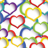 Colorful hearts seamless Royalty Free Stock Images