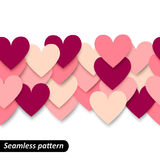Colorful hearts seamless border Stock Photography