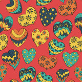 Colorful hearts. Seamless pattern with colorful hearts Royalty Free Stock Images