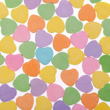 Colorful Hearts. Sweetheart Candy. Valentines Day background Royalty Free Stock Images