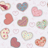 Colorful hearts Stock Images
