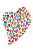 Colorful hearts watercolors background Royalty Free Stock Image