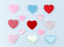 Colorful of hearts on white background Stock Images