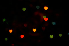 Colorful Heartshaped Bokeh Royalty Free Stock Image