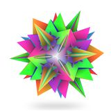 Colorful hedra star Stock Image