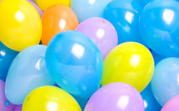 Colorful hellium balloons. Group of colorful hellium balloons Royalty Free Stock Images