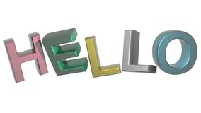 Colorful Hello Royalty Free Stock Photo