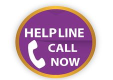 COLORFUL HELP LINE CALL NOW ICON WEB BUTTON stock illustration