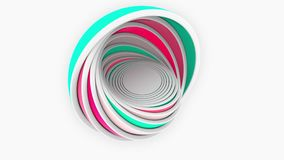 Colorful hemispheres fit each other. Design, size or plastics related 3D rendering Royalty Free Stock Images