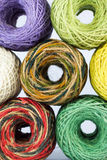 Colorful hemp rolls. For handicraft Royalty Free Stock Photography