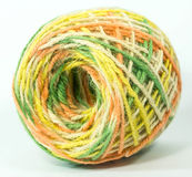 Colorful hemp rope roll for handicraft Stock Photo