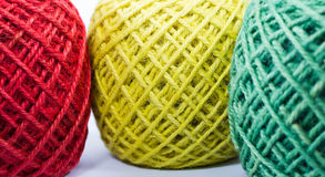Colorful hemp rope rolls Royalty Free Stock Photography