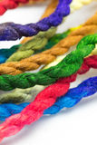 Colorful hemp rope Royalty Free Stock Images