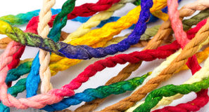 Colorful hemp rope Stock Image