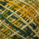 Colorful hemp texture. Closeup colorful hemp rope texture Royalty Free Stock Images