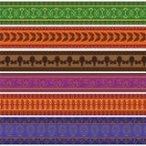 Colorful Henna Borders Stock Photo