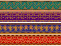 Colorful Henna Borders Royalty Free Stock Image
