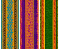 Colorful Henna Borders Stock Images