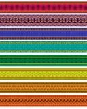 Colorful Henna Borders Stock Image