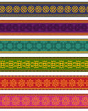 Colorful Henna Borders Royalty Free Stock Photo