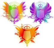 Colorful heraldic coat of arms Stock Images