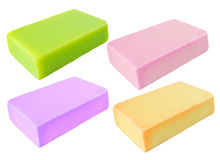 Colorful herbal homemade  soap Stock Photo