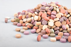Colorful herbal pills 1 Stock Image