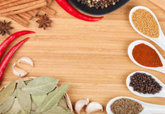 Colorful herbs and spices selection Stock Photo
