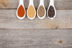 Colorful herbs and spices selection Stock Image