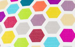 Colorful hexagon background texture Royalty Free Stock Images