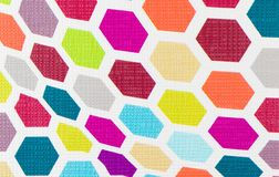 Colorful hexagon background texture Royalty Free Stock Image
