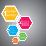 Colorful Infographics. Colorful hexagon infographics stock Royalty Free Stock Photo