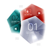 Colorful hexagon web box. Glossy abstract geometric background Royalty Free Stock Image