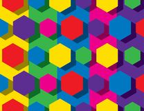 Colorful hexagonal pattern. Background design Royalty Free Stock Image