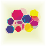 Colorful hexagons. Abstract background of colored hexagons Stock Images
