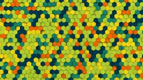 Colorful hexagons pattern abstract 3D rendering Royalty Free Stock Image