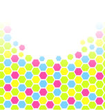 Colorful hexagons Stock Images