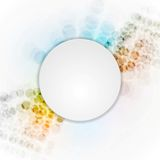 Colorful hi-tech background with blank circle Royalty Free Stock Image