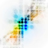 Colorful hi-tech background with circles Royalty Free Stock Images