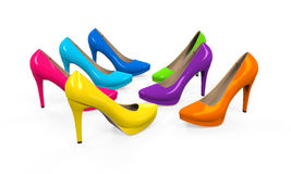 Colorful High Heels Royalty Free Stock Photo