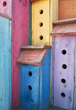 Colorful High-Rise Birdhouse Stock Photography