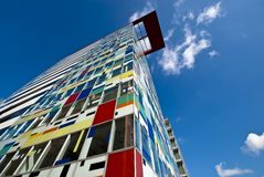 Colorful high-rise building Stock Photos