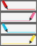 Colorful Highlighter Banners Set Royalty Free Stock Images