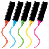 Colorful highlighters Stock Photo